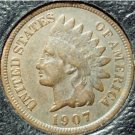 1907 Indian Head Cent VG PARTIAL LIBERTY #741