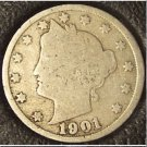 "1901 Liberty ""V"" Nickel G4 #749"