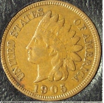 1905 Indian Head Cent EF FULL LIBERTY #829