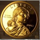 2003-S DCAM Proof Sacagawea Dollar PF65 FREE S&H #838