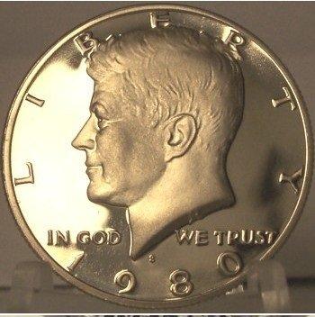 1980-S DCAM Proof Kennedy Half Dollar PF65 #857