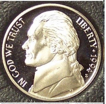 1994-S DCAM Proof Jefferson Nickel PF65 #889