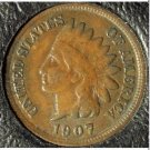 1907 Indian Head Penny FULL Liberty F12 #938