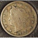 "1908 Liberty ""V"" Nickel G4 #965"