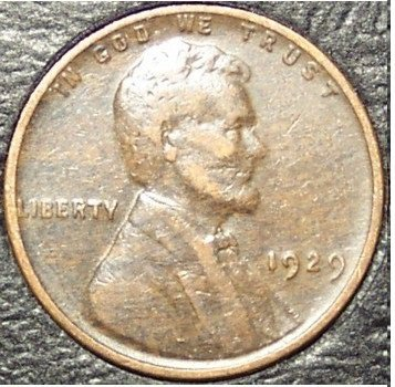 1929 Lincoln Wheat Back Penny VF #972