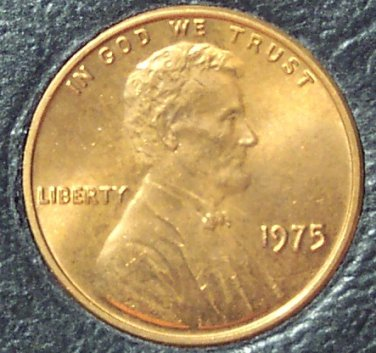 1975 Lincoln Penny UNC MS65 #135
