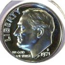 1971-S CAMEO Proof Roosevelt Dime PF65 #510