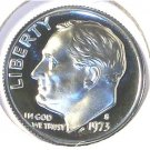 1973-S CAMEO Proof Roosevelt Dime PF65 #521