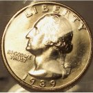 1989-D Washington Quarter MS65 In The Cello #876