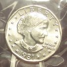 1981-P Susan B. Anthony Dollar MS65 In the Cello FREE SHIPPING #541