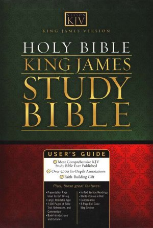 KING JAMES STUDY BIBLE GENUINE LEATHER BLACK
