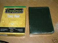 KJV THOMPSON CHAIN REFERENCE BIBLE BLACK  BONDED LEATHER