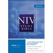 NIV Study Bible Revised Black Bonded Leather