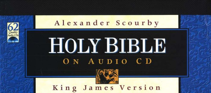 KJV Bible - Audio Bible on CD Alexander Scourby