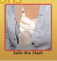 Satin Bra Stash (Jewellery Pouch) by Austin House