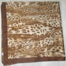 Large Italian Square Scarf - Beige and Brown Tones