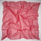Chiffon Scarf - Solid Cherry Color