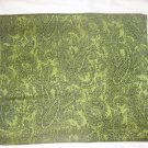 Pashmina Style Jacquard Paisley Shawl - Green and Black