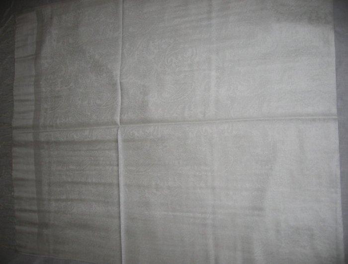 Pashmina Style Jacquard Paisley Shawl - Gray tones