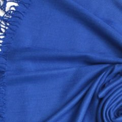 Pashmina Style, 100% Viscose Shawl - Royal Blue