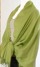 Pashmina Style, 100% Viscose Shawl - Lime Green