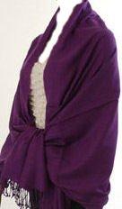Pashmina Style, 100% Viscose Shawl - Deep Purple