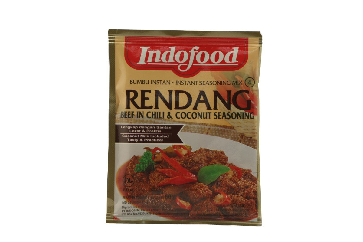 Indofood Rendang (Beef in Spicy & Rich Coconut Mix) Seasoning Mix, Set Of 2 Sachets