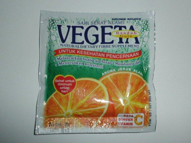 Vegeta Natural Fiber Supplement Drink Pack Of 12 Sachets, Orange Flavor