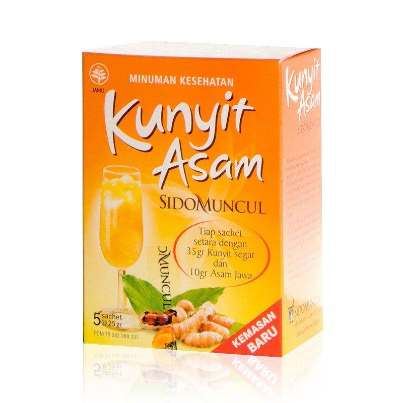 Jamu Kunyit Asam Tumeric Drink For Women 2 Boxes @5 Sachets