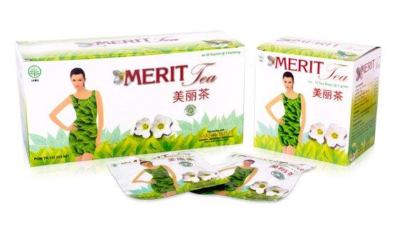 Merit Herbal Slimming Tea, 2 Boxes @ 15 Teabags
