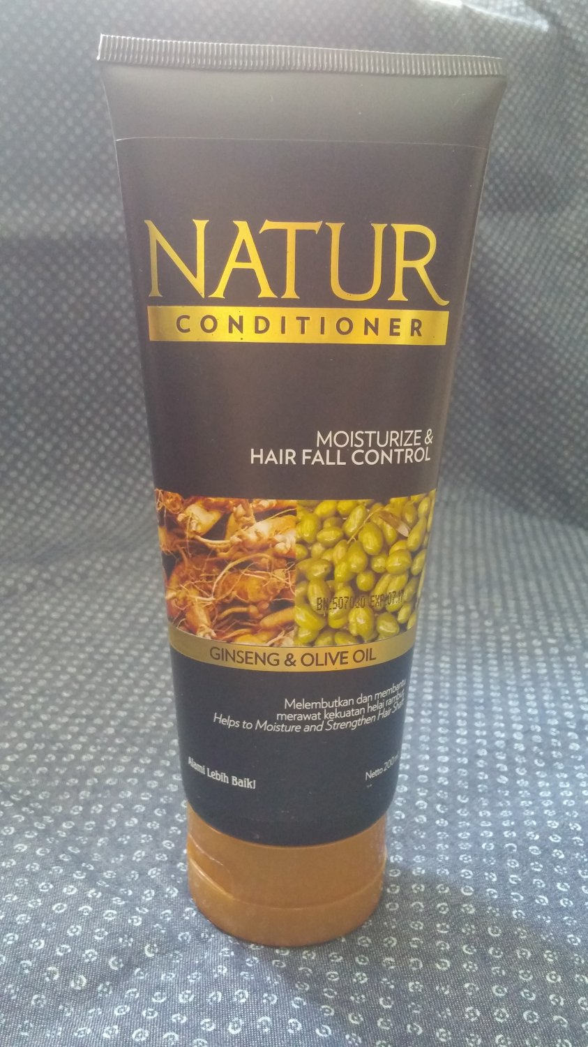 Natur Hair Conditioner With Olive Oil & Ginseng Extract
