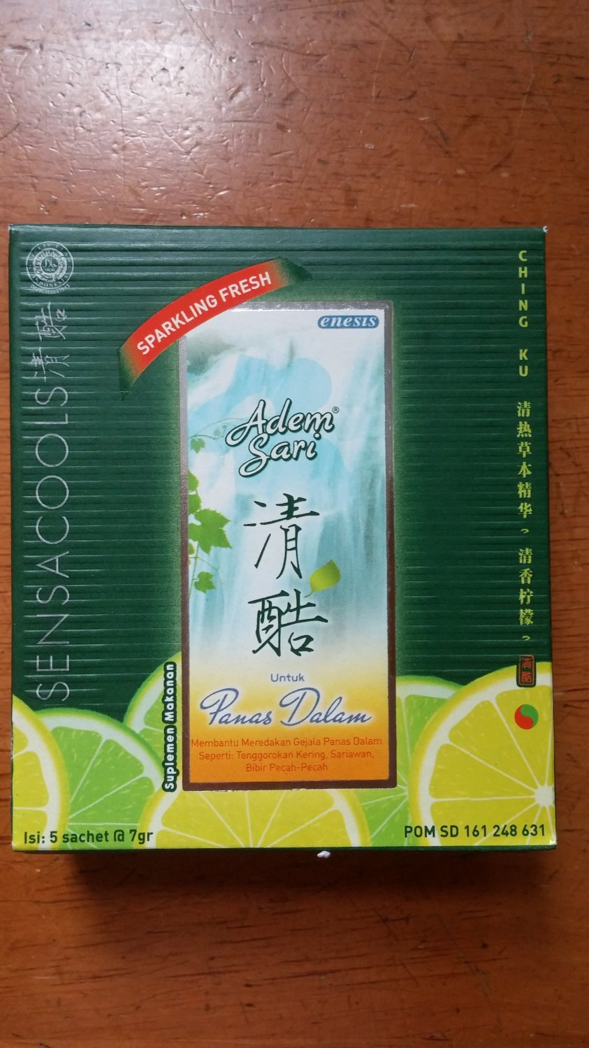 Sensa Cool - Adem Sari Refreshing Concentrate Drink Pack Of 2 Boxes (10 Sachets)