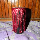 Black Candle Blood Red Drips Halloween Vampire Wicca