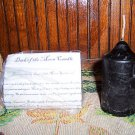 Dark of the Moon Ritual Spell Candle Wiccan 3.5&quot;x1.75