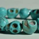 Turquoise Day of the Dead Skull Bracelet (Dia De Los Muertos - All Saints Day - Goth)