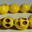 Yellow Day of the Dead Skull Bracelet (Dia De Los Muertos - All Saints Day - Goth)
