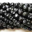 100 Black (12mm) Skull Beads - Day of the Dead - Goth