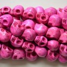 100 Pink (12mm) Skull Beads - Day of the Dead - Goth