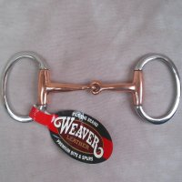 Copper Mouth Eggbutt Snaffle Bit 4 1/2 Inch Pony