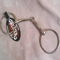 O Ring Snaffle Bit Pony Size 4 1/4 Inch NP