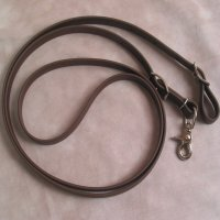 Beta Biothane Roper Reins 8 Foot, 3/4 Inch Brown 1 Snap