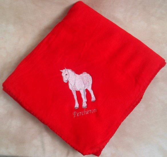 Polyester Percheron Horse Throw Fleece Throw Blanket