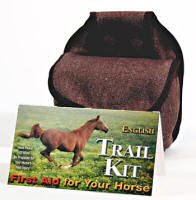 English Trail Riding Horse First Aid Kit