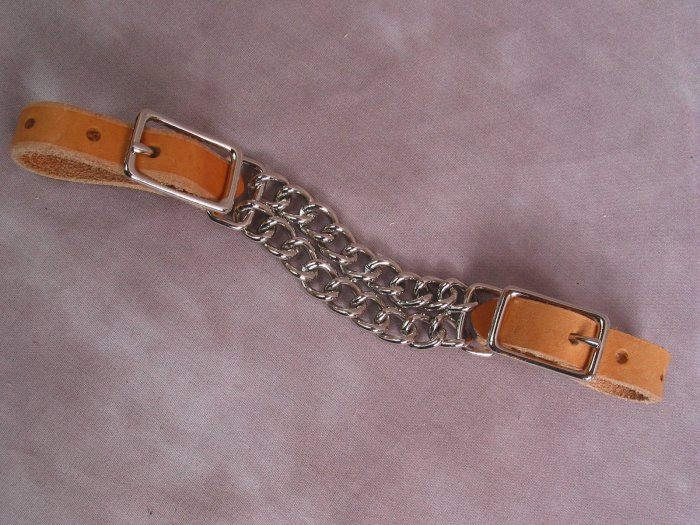 Light Leather Curb Chain