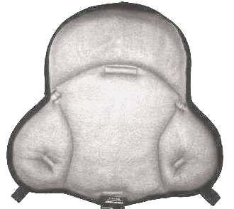 Saddle Cushion Light Gray Polar Fleece - Western Saddle Size