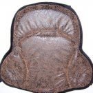 Saddle Cushion Brown Western Tooled Design - Western Saddle Size