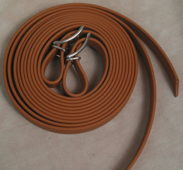 "Split Style Reins 5/8""  Heavy Weight Beta Biothane Tan"
