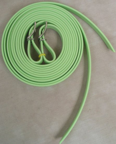 "Split Style Reins 5/8"" Heavy Weight Beta Biothane Light Green"