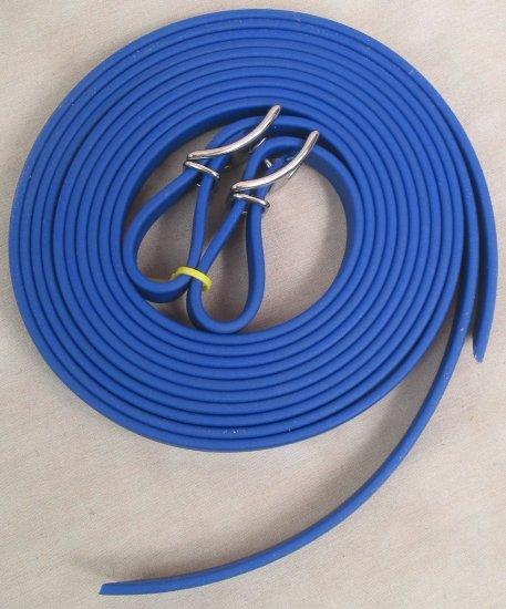 "Split Style Reins 5/8""  Heavy Weight Beta Biothane Royal Blue"