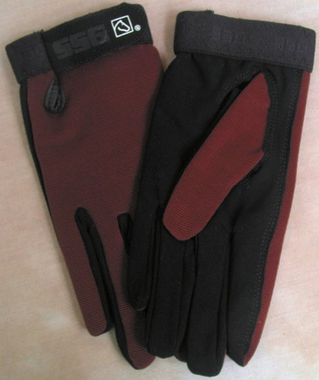 SSG All Weather Riding Glove - Brown Ladies Universal